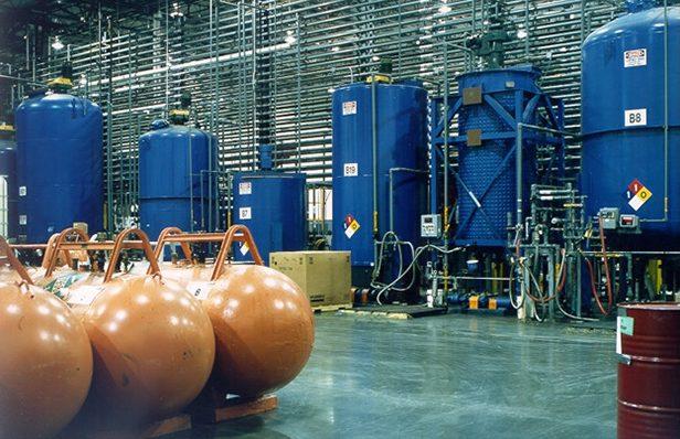 Foto van Chemietanks